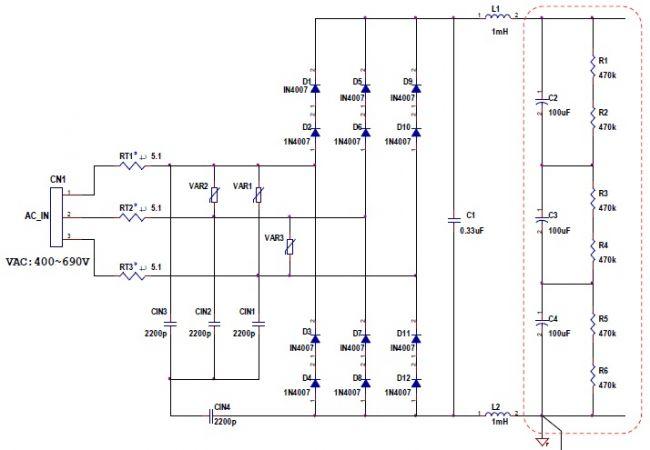 TECH INFO 【罗姆BD7682FJ-EVK-402试用体验连载】400VAC三相交流电压输入测试