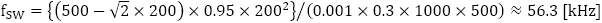 PFC回路:スイッチング周波数の調整